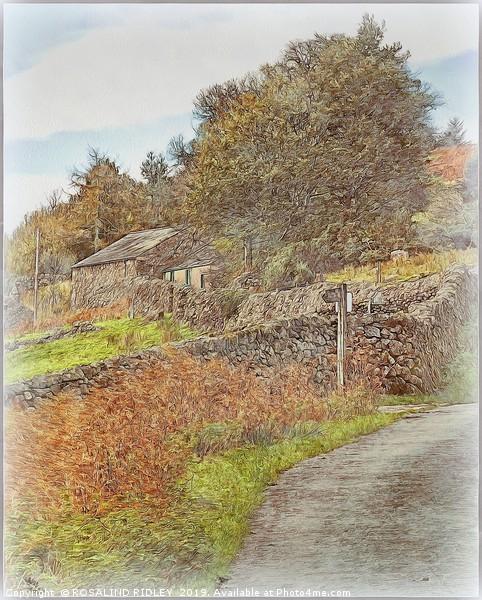 """Pastel Wasdale"" Framed Mounted Print by ROSALIND RIDLEY"