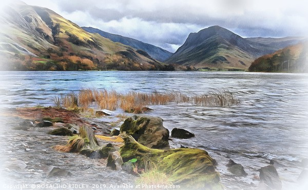 """""""Painterly Buttermere"""" Canvas print by ROSALIND RIDLEY"""