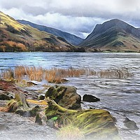 """Buy canvas prints of """"Painterly Buttermere"""" by ROSALIND RIDLEY"""