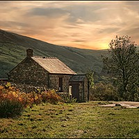 """Buy canvas prints of """"Misty sunset Wasdale Head """" by ROSALIND RIDLEY"""