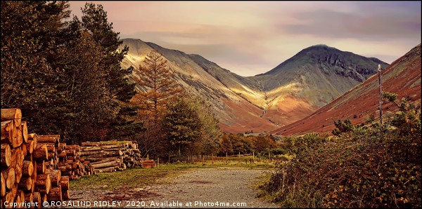 """Golden hour at Great Gable"" Canvas print by ROSALIND RIDLEY"