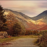 "Buy canvas prints of ""Golden hour at Great Gable"" by ROSALIND RIDLEY"