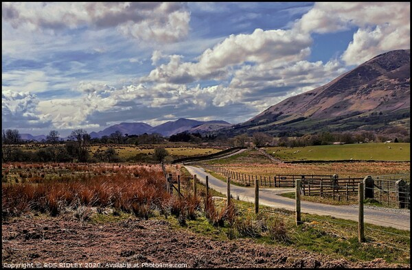 """""""Cloudy skies over Cumbria"""" Canvas Print by ROS RIDLEY"""