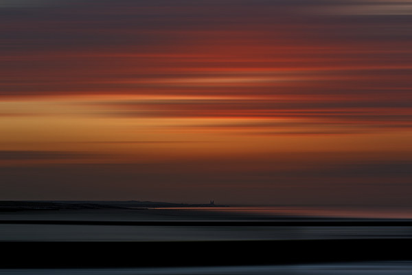 Reculver sunset Canvas Print by Robin Marks