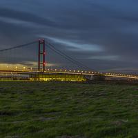 Buy canvas prints of  Humber Bridge by David Charlton