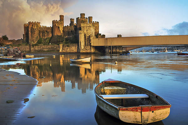 Conwy Castle Canvas Print by Mal Bray