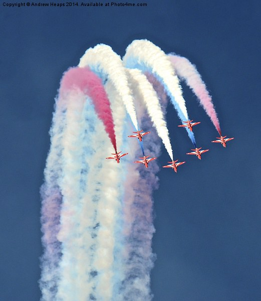 Red Arrows Display Team. Framed Print by Andrew Heaps