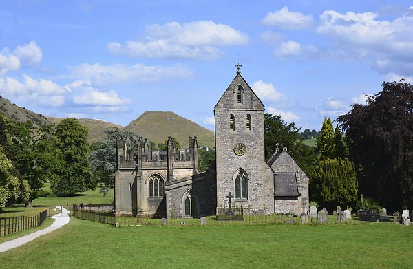 Ilam Church In Derbyshire. Framed Print by Andrew Heaps