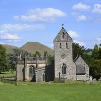 Buy canvas prints of  Ilam Church In Derbyshire. by Andrew Heaps