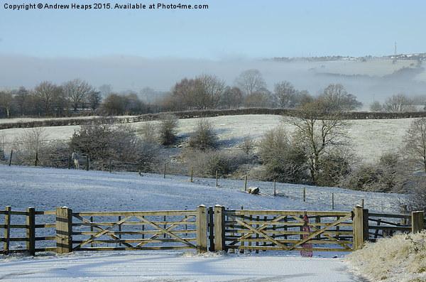 Winters Scene Framed Print by Andrew Heaps