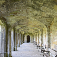 Buy canvas prints of  Arches at local Hall in Dovedale. by Andrew Heaps