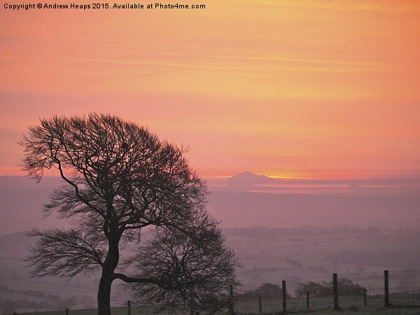 Evening sunset in Staffordshire. Framed Print by Andrew Heaps