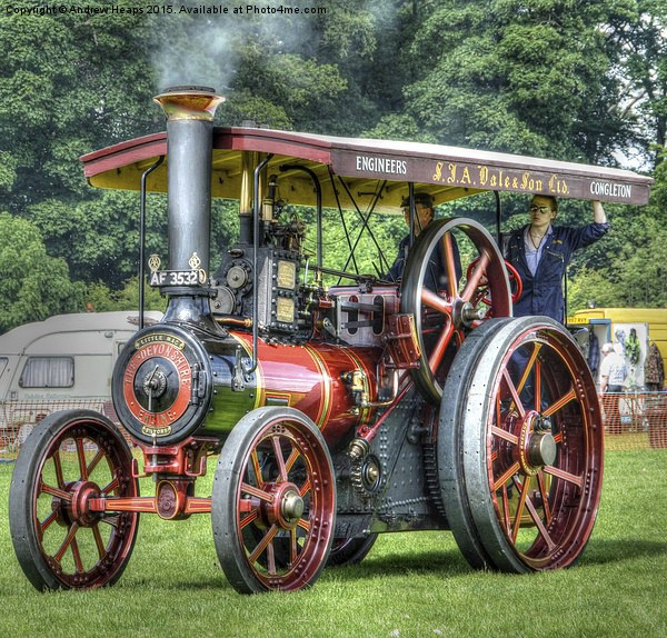 Steam Traction Engine HDR Canvas print by Andrew Heaps
