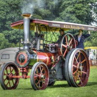 Buy canvas prints of Steam Traction Engine HDR by Andrew Heaps