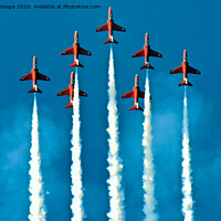 Buy canvas prints of Red Arrows display team by Andrew Heaps