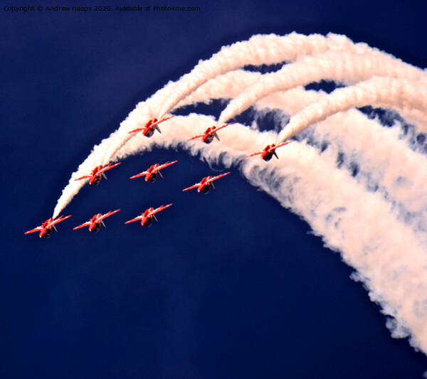 Red Arrows display team Framed Print by Andrew Heaps