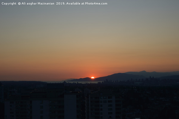 Sunset in Burnaby 2, Canvas print by Ali asghar Mazinanian