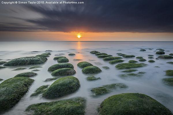 Hunstanton Sunset Long Exposure  Canvas Print by Simon Taylor