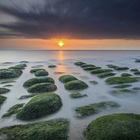 Buy canvas prints of Hunstanton Sunset Long Exposure  by Simon Taylor
