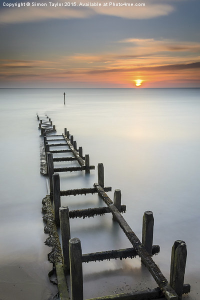 Overstrand at sunrise Canvas Print by Simon Taylor