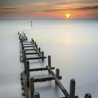 Buy canvas prints of  Overstrand at sunrise by Simon Taylor