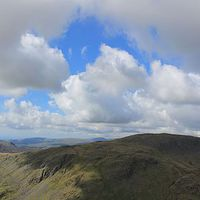 Buy canvas prints of  Seathwaite Tarn Panorama by Simon  Hall