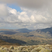 Buy canvas prints of  Scafells Panorama by Simon  Hall