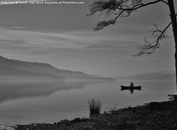 Lonely Coniston Water Framed Mounted Print by Simon  Hall