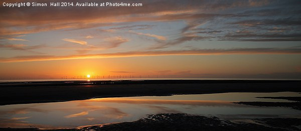 Cumbria Sunset Framed Mounted Print by Simon  Hall