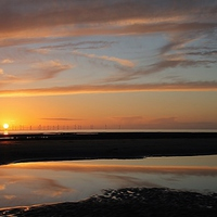 Buy canvas prints of  Cumbria Sunset by Simon  Hall