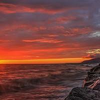Buy canvas prints of Walney Island Sunset. by Simon Hall