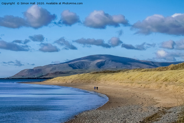 Black Combe from Sandscale. Canvas Print by Simon Hall