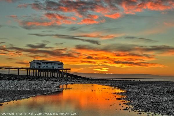 Sunrise Roa Island Lifeboat Station. Framed Mounted Print by Simon Hall