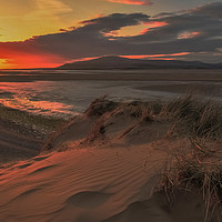Buy canvas prints of Sunset Roanhead Cumbria by Simon Hall
