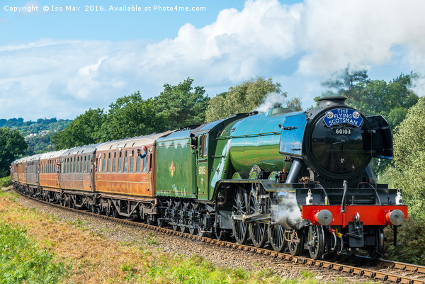 Flying Scotsman, Severn Valley 25/09/2016 Canvas print by Iso Max