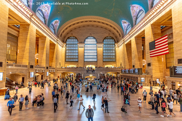 Grand Central Station, Manhattan, New York Framed Mounted Print by Iso Max