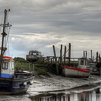 Buy canvas prints of  Thornham Harbour by Alan Simpson