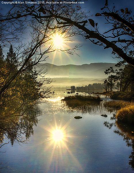 Sunrise at Loch Morlich Canvas print by Alan Simpson