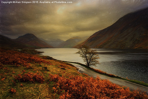 Wast Water and the Screes Canvas print by Alan Simpson