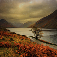 Buy canvas prints of  Wast Water and the Screes by Alan Simpson