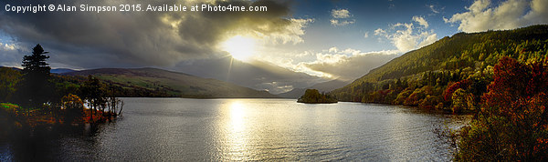 Loch Tay Sunset Canvas print by Alan Simpson