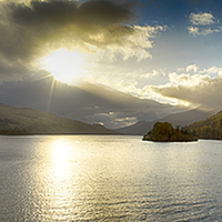 Buy canvas prints of  Loch Tay Sunset by Alan Simpson