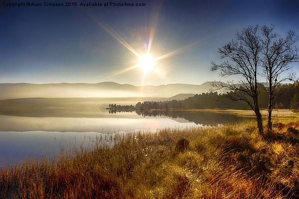 Sunrise over Loch Morlich Canvas print by Alan Simpson
