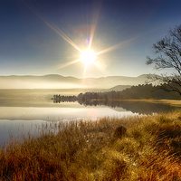 Buy canvas prints of  Sunrise over Loch Morlich by Alan Simpson