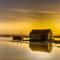Buy canvas prints of Thornham Harbour Sunrise by Alan Simpson