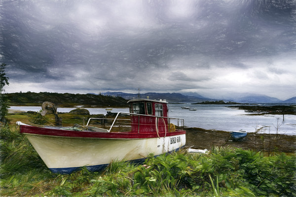 Skye Fishing Boat Canvas print by Alan Simpson
