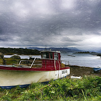 Buy canvas prints of Skye Fishing Boat by Alan Simpson