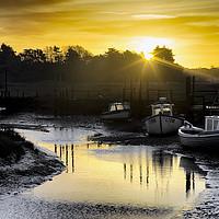 Buy canvas prints of Thornham Harbour Sunrise by Alan Simpson