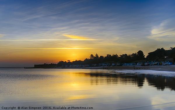 Wells Beach Sunrise Canvas Print by Alan Simpson