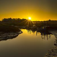 Buy canvas prints of Thornham Sunrise by Alan Simpson